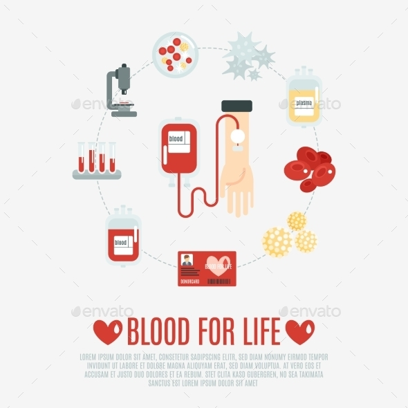 GraphicRiver Blood Donation Concept 11380437