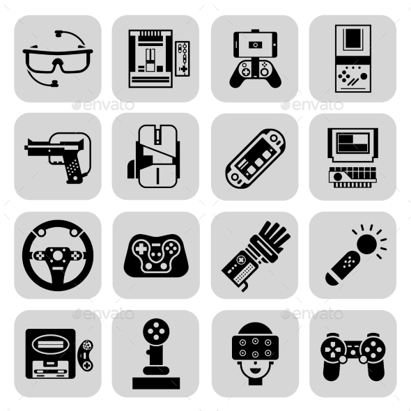 GraphicRiver Gaming Gadgets Black 11380441