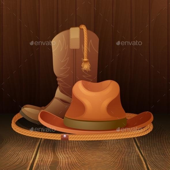 GraphicRiver Cowboy Symbol Poster 11380484