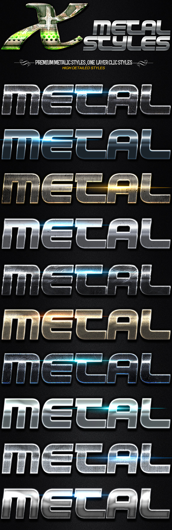 GraphicRiver X Metal Styles 11380514