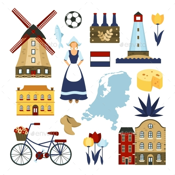 GraphicRiver Netherlands Symbols Set 11380522