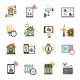 Smart House Technology System Icons - GraphicRiver Item for Sale