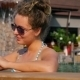 Happy Woman Using Smart Phone In Pool On Vacation - VideoHive Item for Sale
