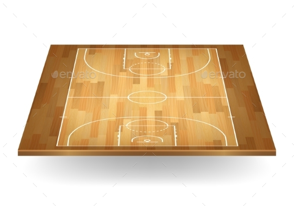 GraphicRiver Wooden Basketball Court 11380933