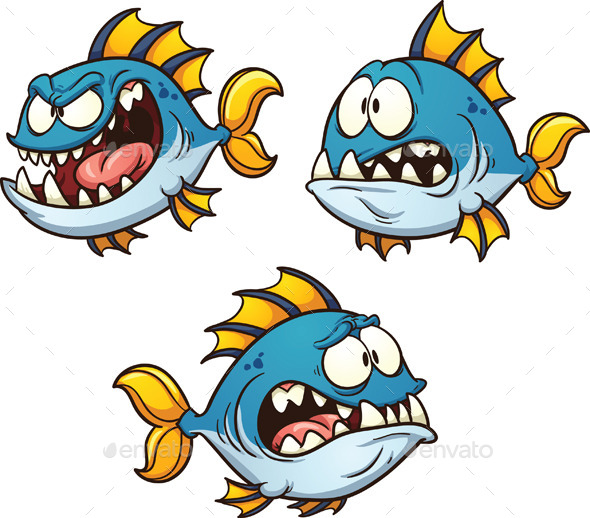 GraphicRiver Evil Cartoon Fish 11380935
