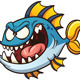 Evil Cartoon Fish - GraphicRiver Item for Sale