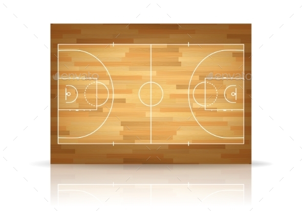 GraphicRiver Vector Wooden Basketball Court 11380938