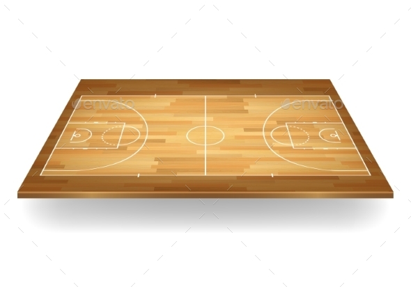 GraphicRiver Wooden Basketball Court Vector Illustration 11380945