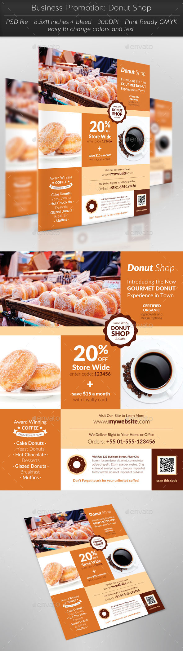 GraphicRiver Business Promotion Donut Shop 11380968