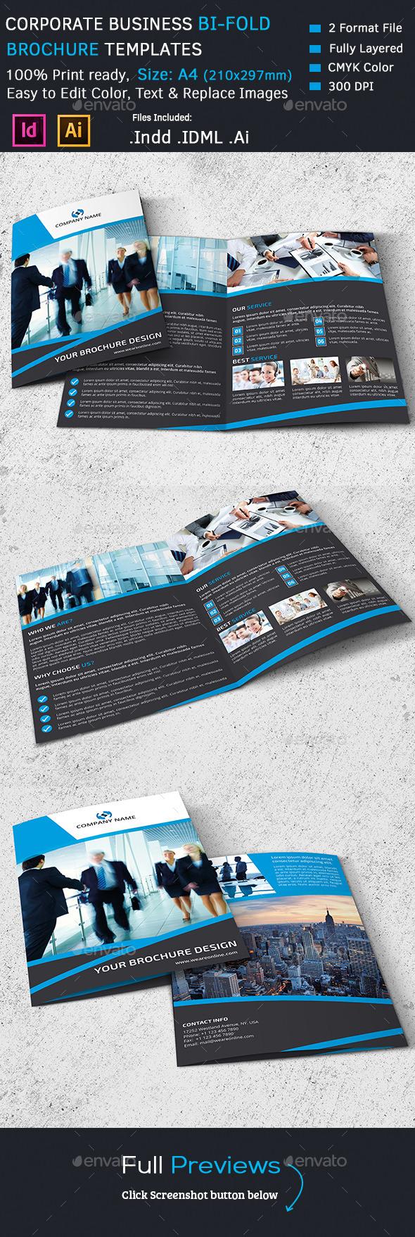 GraphicRiver Corporate Bi-Fold Brochure 11316758