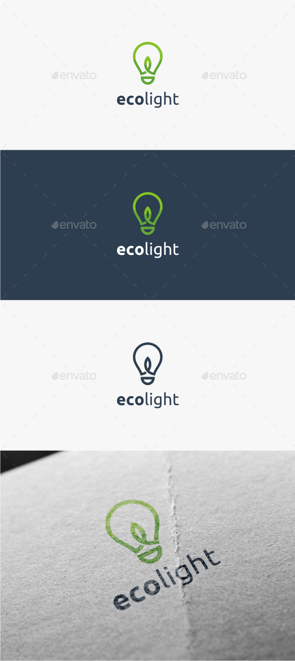 GraphicRiver Eco Light Logo Template 11381263