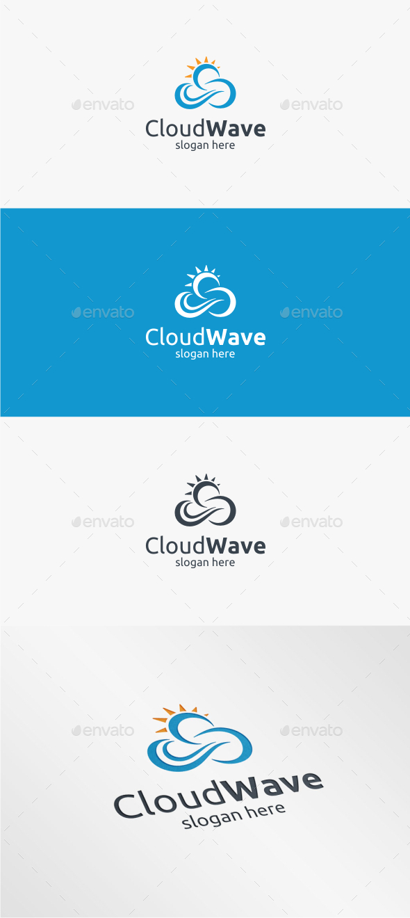 GraphicRiver Cloud Wave Logo Template 11381304