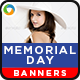 Memorial Day Sale Banners -  4 Sets