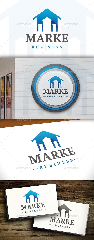 GraphicRiver Real Estate Market Logo 11381773