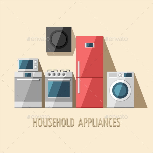 GraphicRiver Set of Household Appliances 11381855