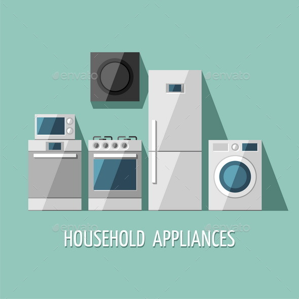 GraphicRiver Set of Household Appliances 11381865