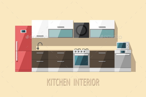 GraphicRiver Kitchen Interior Kitchen Furniture 11381912