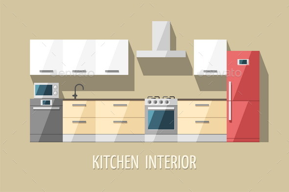 GraphicRiver Kitchen Interior Kitchen Furniture 11381932