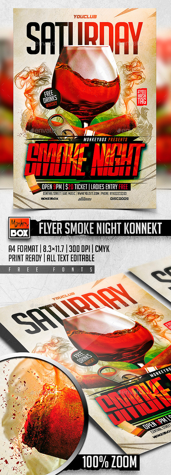 GraphicRiver Flyer Smoke Night Konnekt 11381945