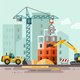 Construction Site, Building a House. - GraphicRiver Item for Sale