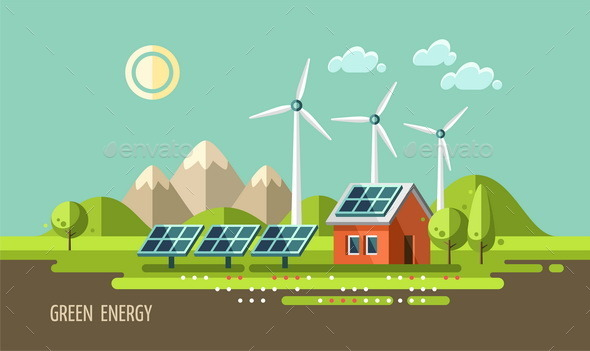 GraphicRiver Green Energy Ecology Environment 11382087