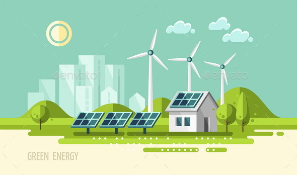 GraphicRiver Green Energy Urban Landscape Ecology 11382169