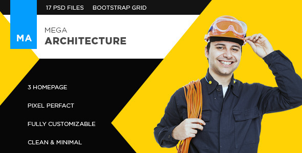 ThemeForest Mega Architecture Construction Building Template 11382304