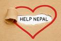 Help Nepal Torn Paper - PhotoDune Item for Sale