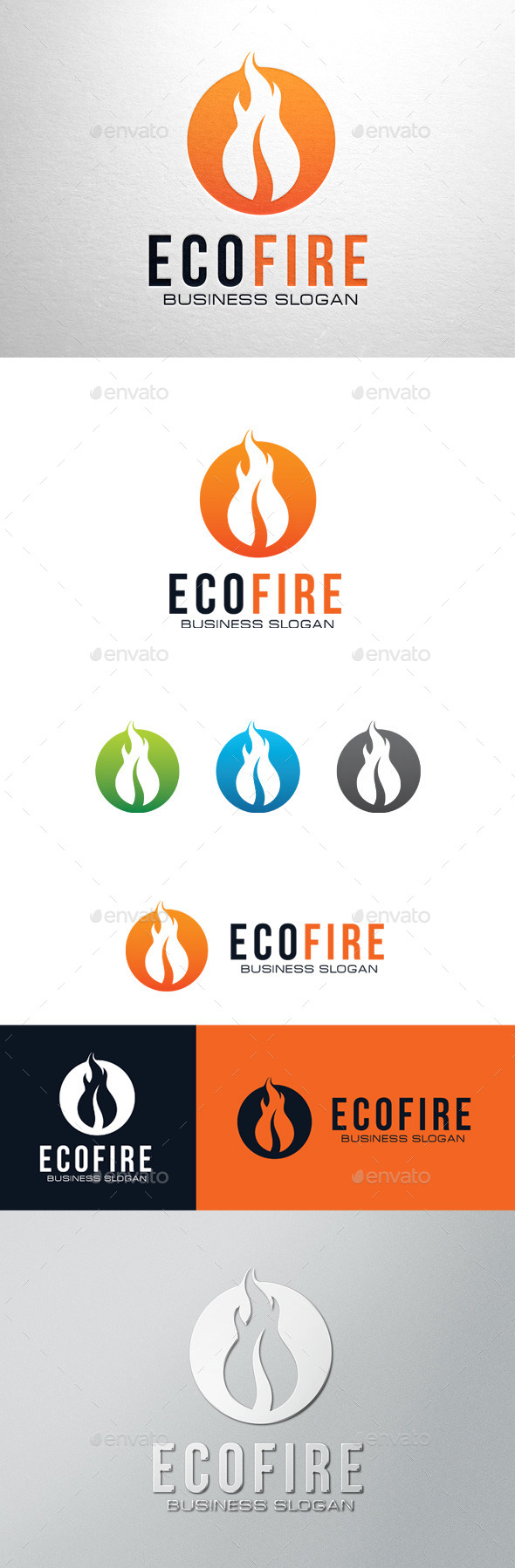 GraphicRiver Eco Fire Logo 11382359