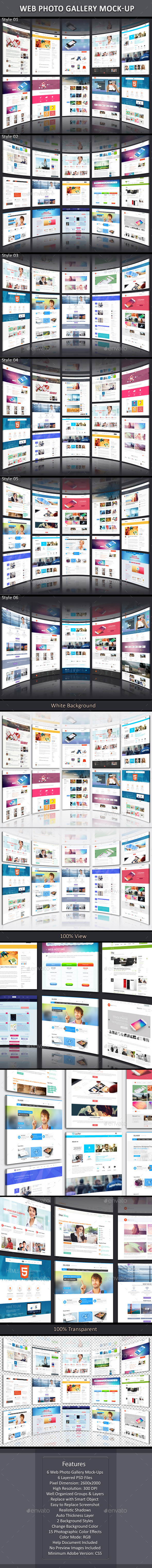 GraphicRiver Web Photo Gallery Mock-Up 11330637