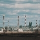 Power Plant Against Cloudy Blue Sky. - VideoHive Item for Sale