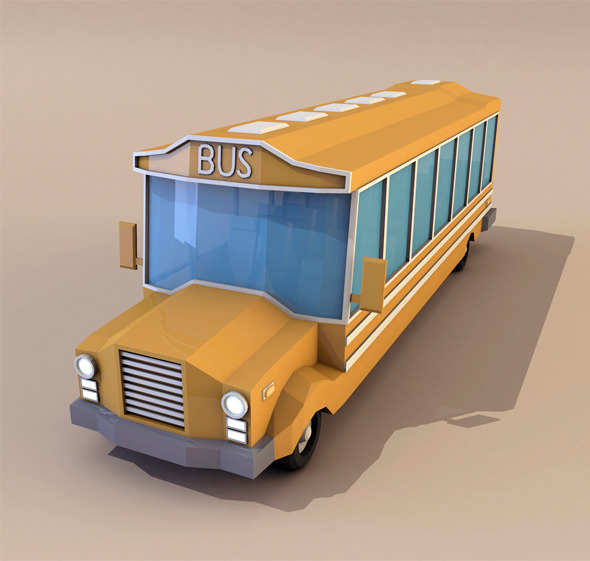 3DOcean Low Poly Bus 11382850