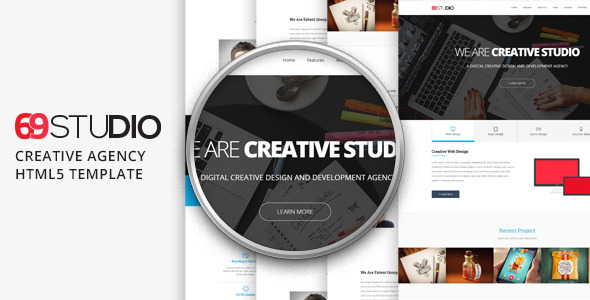 ThemeForest 69Studio Creative Agency HTML5 Template 11260250