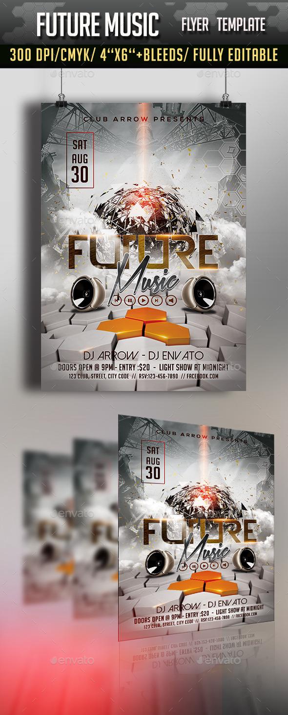 GraphicRiver Future Music Flyer Template 11383000