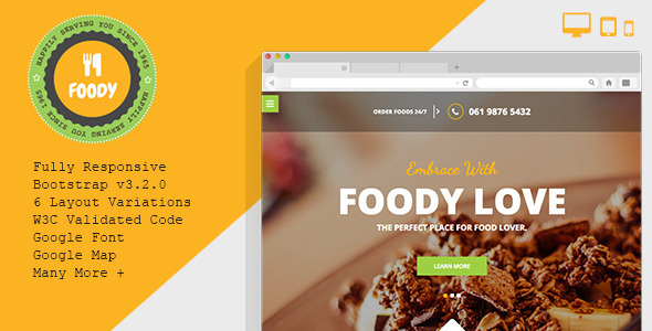Foody – Responsive Restaurant HTML5 Template