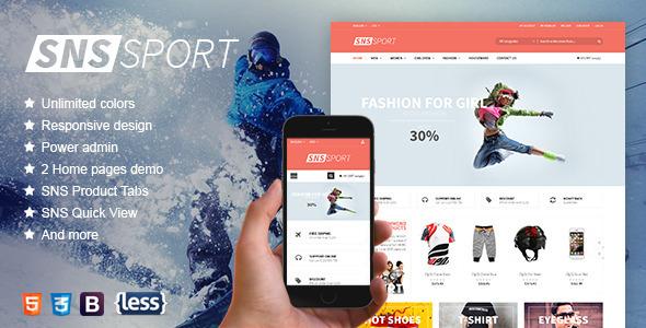 SNS Sport - Responsive Magento Theme