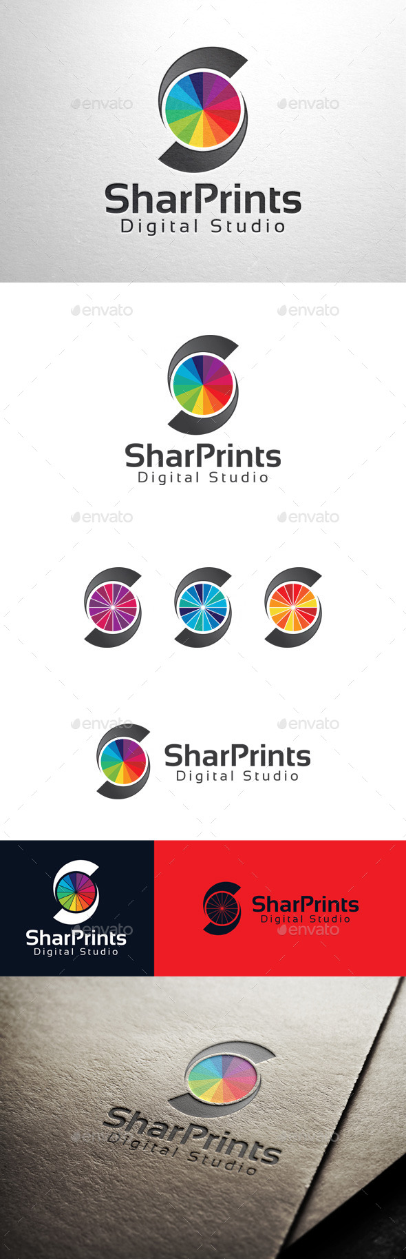 GraphicRiver Shar Prints Letter S Logo 11383535