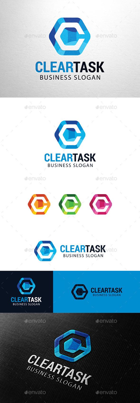 GraphicRiver Clear Task Letter C logo 11383547