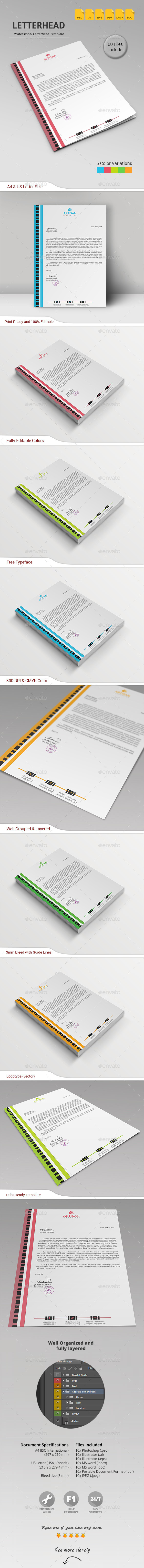 GraphicRiver Letterhead 11383790