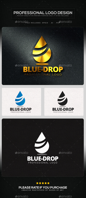 GraphicRiver Blue Drop Logo Template 11383918