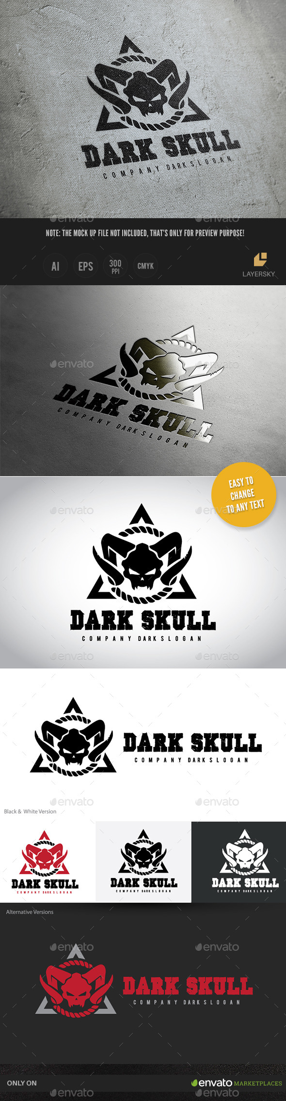 GraphicRiver Dark Skull 11383921