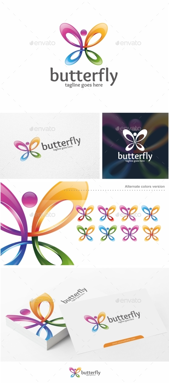 GraphicRiver Butterfly Logo Template 11383955