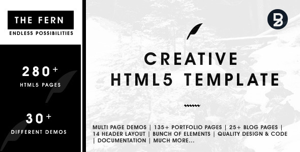 ThemeForest The Fern Creative HTML5 Template 11309337