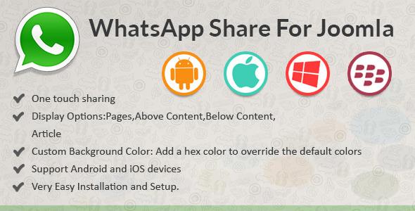 CodeCanyon WhatsApp Share for Joomla 11384056