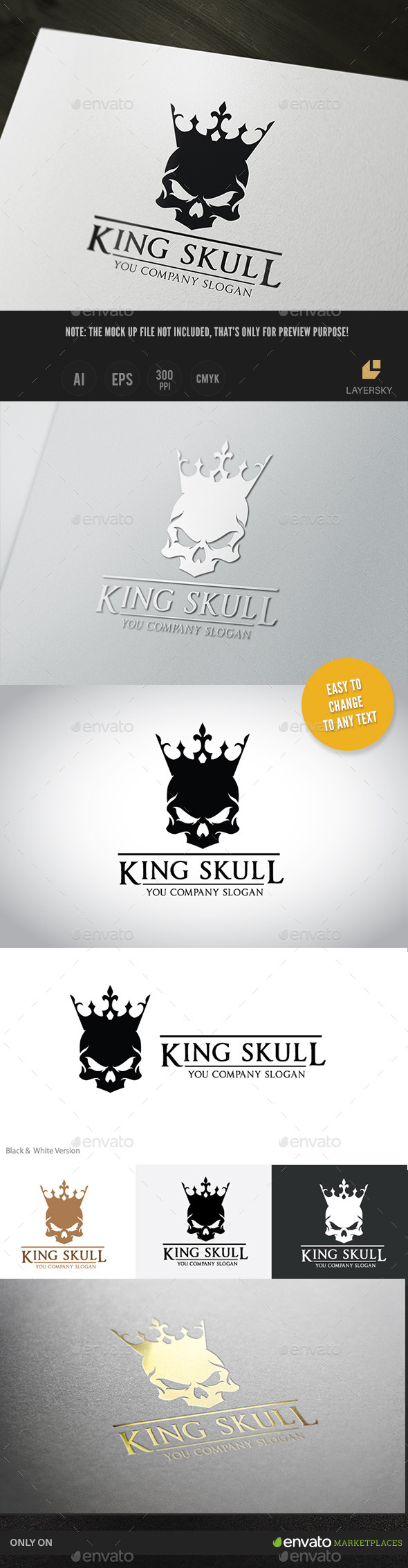 GraphicRiver King Skull 11384153