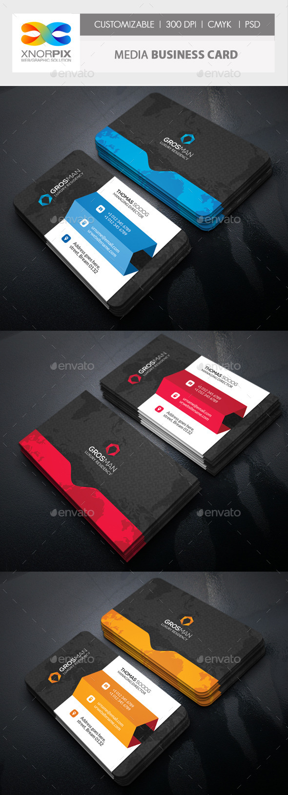 GraphicRiver Media Business Card 11384156
