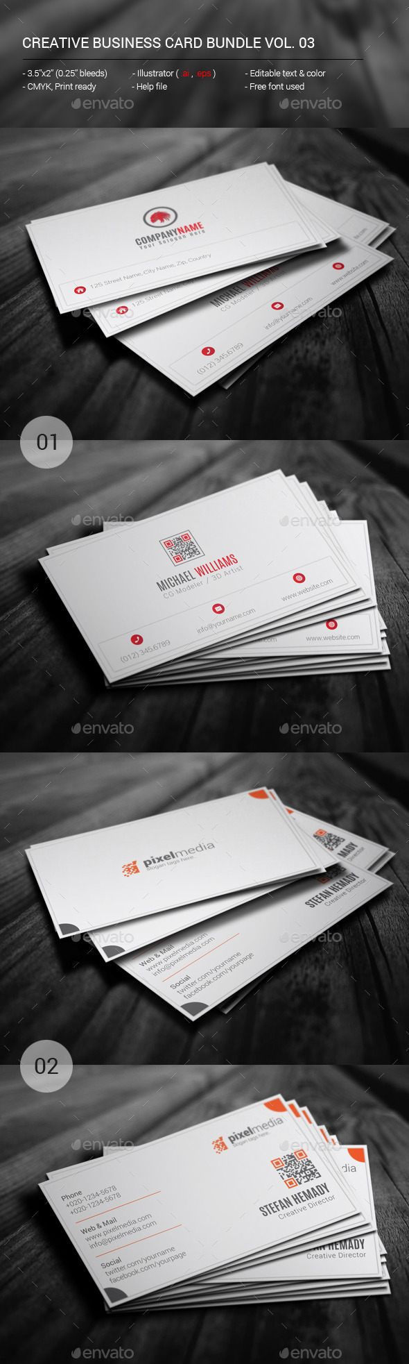 GraphicRiver Creative Business Card Bundle Vol.03 11384210