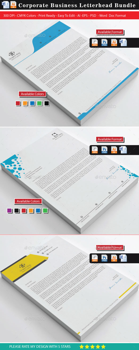 GraphicRiver Letterhead Bundle 11384512
