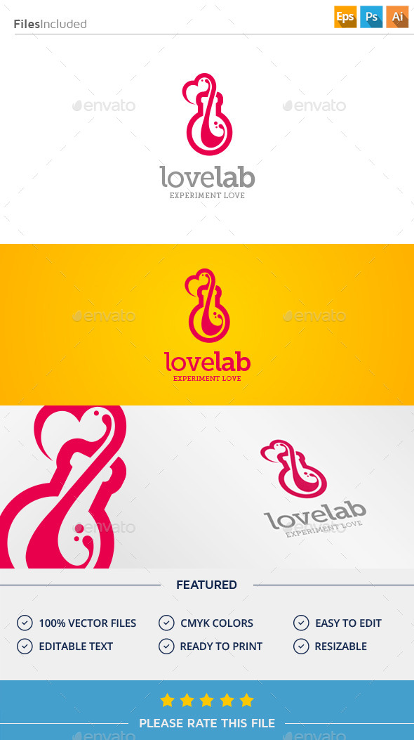 GraphicRiver Love Lab Logo 11377016