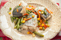 cooked fish with vegetables - PhotoDune Item for Sale